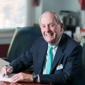 Civil litigation attorney Colin Thomas in his office